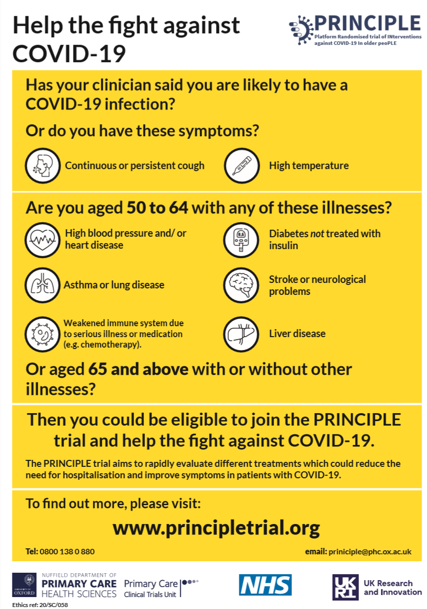 Help the fight against Covid-19 poster